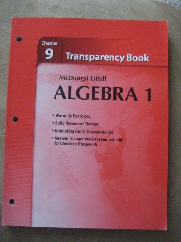 9780618735655: Holt McDougal Larson Algebra 1: Transparency Book: Chapter 9