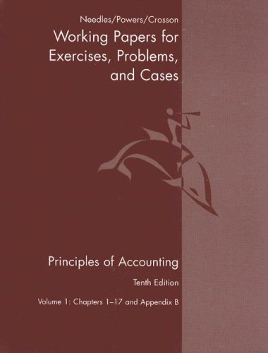 9780618736430: 1: Principles Of Accounting And Principles Of Financial Accounting Working Papers Volume One Tenth Edition