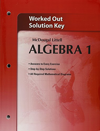 9780618736638: Holt McDougal Larson Algebra 1: Worked-Out Solutions Key