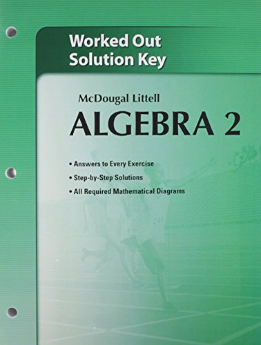 9780618736652: Holt McDougal Larson Algebra 2: Worked-Out Solutions Key [Taschenbuch] by MCD...