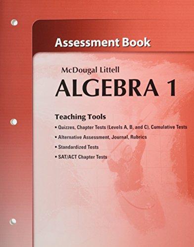 9780618736669: McDougal Littell Algebra 1 Assessment Book (Teaching Tools)