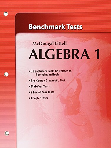 9780618736720: Holt McDougal Larson Algebra 1: Benchmark Tests
