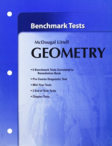 9780618736737: Holt McDougal Larson Geometry: Benchmark Tests