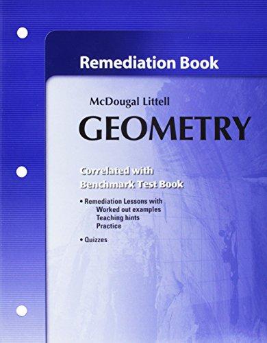 Holt McDougal Larson Geometry: Remediation Book: MCDOUGAL LITTEL
