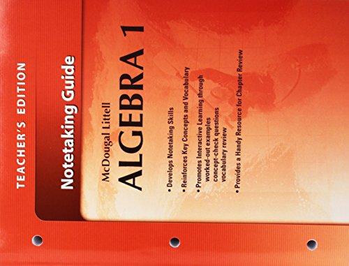 9780618736874: McDougal Littell Algebra 1: Notetaking Guide, Teacher's Edition (Holt McDougal Larson Algebra 1)