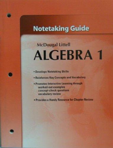 9780618736911: McDougal Littell High School Math Algebra 1: Notetaking Guide