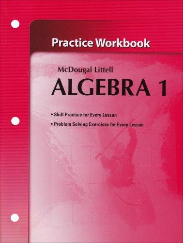 9780618736942: McDougal Littel Algebra 1: Practice Workbook (Holt McDougal Larson Algebra 1)