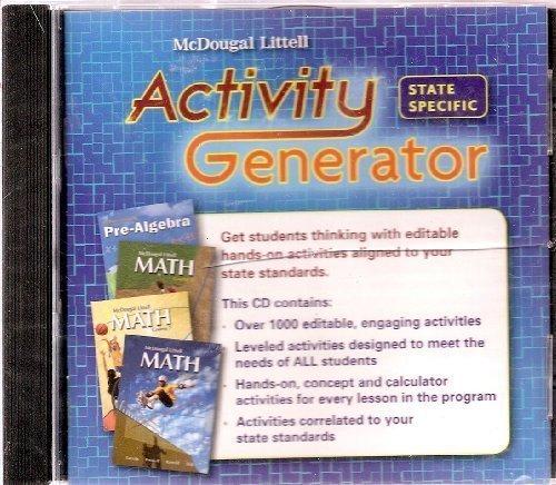 Middle School Math Activity Generator CD-ROM for: McDougal Littell