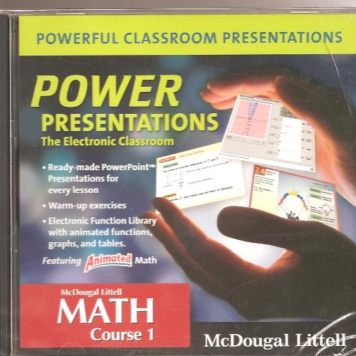 9780618739592: McDougal Littell Math Course 1: Power Presentations: The Electronic Classroom CD-ROM