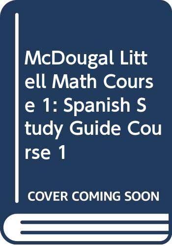 McDougal Littell Math Course 1: Spanish Study: MCDOUGAL LITTEL