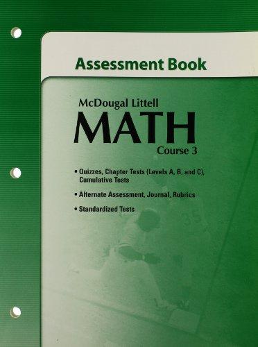 9780618741014: McDougal Littell Math Course 3: Assessment Book