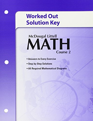 9780618741151: Math, Course 2: Worked Out Solution Key