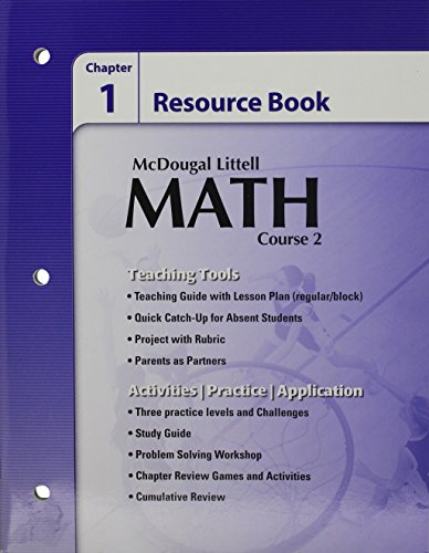 9780618741304: McDougal Littell Math Course 2: Chapter Resources Book Chapter 1