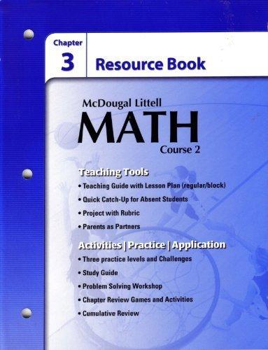 9780618741458: McDougal Littell Math Course 2: Chapter Resources Book Chapter 3