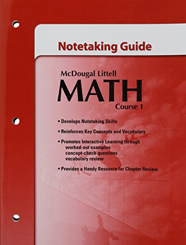 McDougal Littell Math Course 1 Notetaking Guide: McDougal Littell