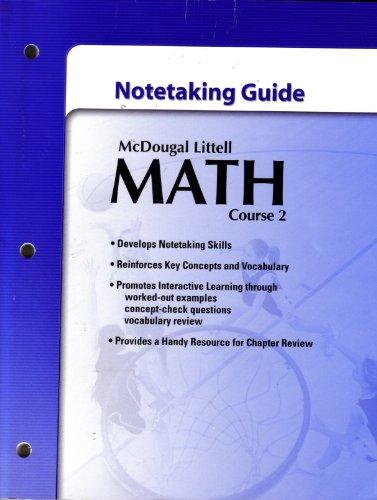9780618741878: McDougal Littell Math Course 2: Student's Notetaking Guide