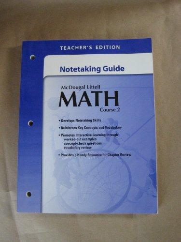 McDougal Littell Math Course 2: Note-taking Guide Teacher's Edition: MCDOUGAL LITTEL