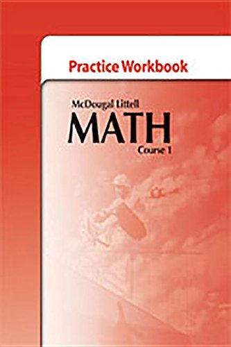 9780618741977: McDougal Littell Middle School Math: Practice Workbook, Course 1