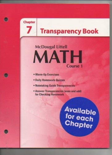 Mcdougal Littell Math Course 1 Chapter 7: Larson, Boswell, Kanold