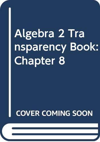 9780618743087: Holt McDougal Larson Algebra 2: Transparency Book: Chapter 8 Algebra 2