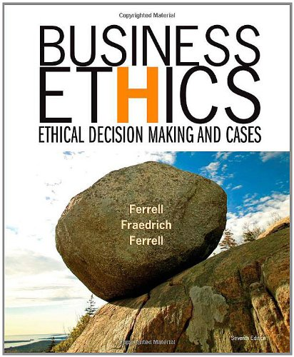 9780618749348: Business Ethics: Ethical Decision Making and Cases