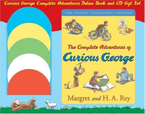 9780618750429: Curious George Complete Adventures Deluxe Book and CD Gift Set