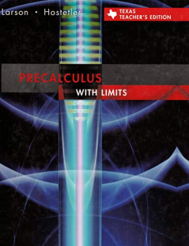 9780618751747: Precalculus with Limits, Texas Edition