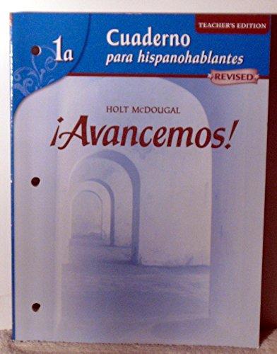 Avancemos!: Cuaderno para hispanohablantes Workbook Teacher's Edition: MCDOUGAL LITTEL