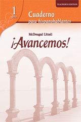 9780618752287: ?Avancemos!: Cuaderno para hispanohablantes Workbook Teacher's Edition Level 1 (Spanish Edition)