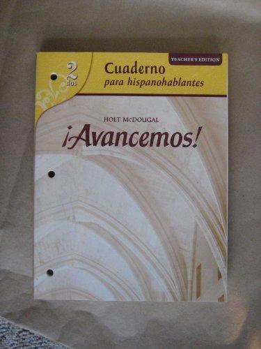 9780618752294: ?Avancemos!: Cuaderno para hispanohablantes Workbook Teacher's Edition Level 2 (Spanish Edition)