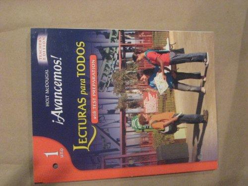 Avancemos!: Lecturas para todos Workbook Teacher's Edition: MCDOUGAL LITTEL