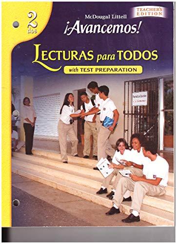 9780618752324: ?Avancemos!: Lecturas para todos Workbook Teacher's Edition Level 2 (Spanish Edition)