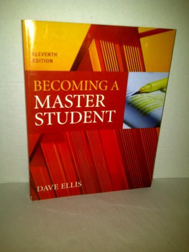 9780618752348: Becoming a Master Student