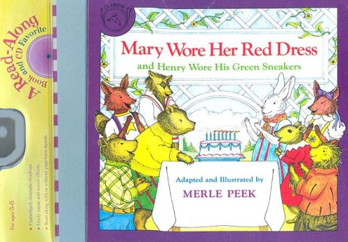 9780618752492: Mary Wore Her Red Dress and Henry Wore His Green Sneakers Book & CD (Read Along Book & CD)