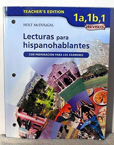 9780618752515: ?Avancemos!: Lecturas para hispanohablantes Workbook Teacher's Edition Levels 1A/1B/1 (Spanish Edition)