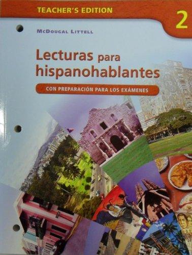 Avancemos!: Lecturas para hispanohablantes Workbook Teacher's Edition: LITTEL, MCDOUGAL