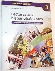 Avancemos!: Lecturas para hispanohablantes Workbook Teacher's Edition Level 3 (Spanish Edition...