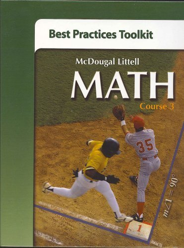 9780618752560: McDougal Littell Math Course 3: Best Practices Toolkit Course 3