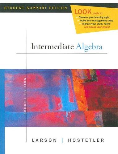 9780618753529: Intermediate Algebra - Fourth Edition