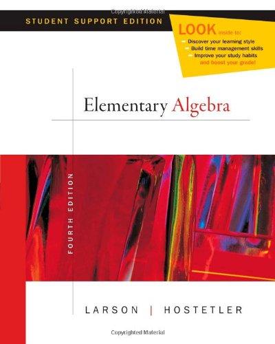 9780618753536: Elementary Algebra