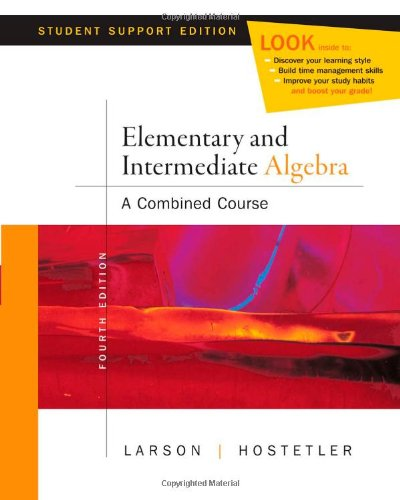 9780618753543: Elementary and Intermediate Algebra A Combined Course