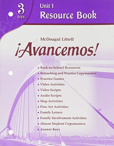 9780618753635: ?Avancemos!: Unit Resource Book 1 Level 3 (Spanish Edition)