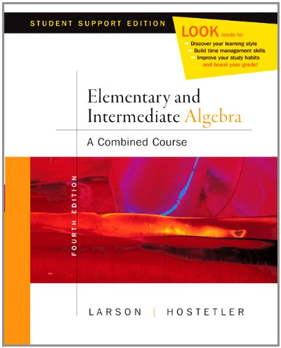 Elementary Algebra Media Enhanced Ed (0618753966) by Roland E. Larson; Robert P. Hostetler
