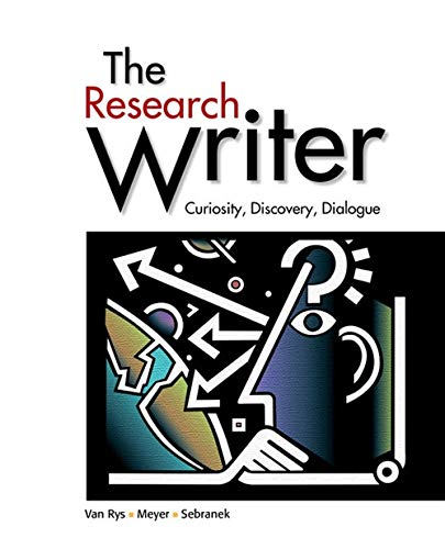 9780618756223: The Research Writer: Curiosity, Discovery, Dialogue