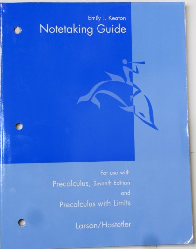 Larson Precalculus With Limits Notetaking Guide Printed: Larson, Ron; Hostetler,