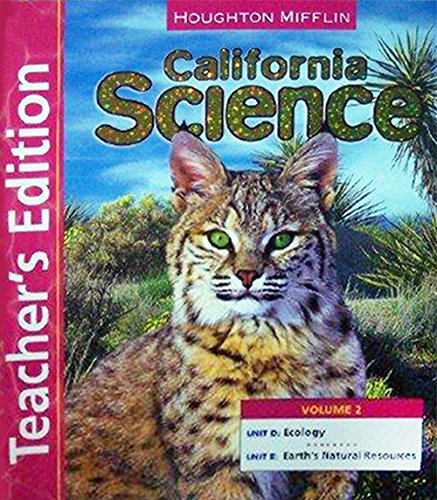 9780618761487: 2: Science California, Level 6: Teacher Edition