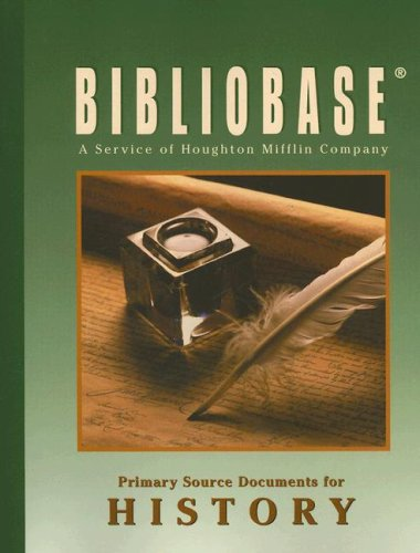 9780618762507: Bibliobase: Primary Source Documents for History