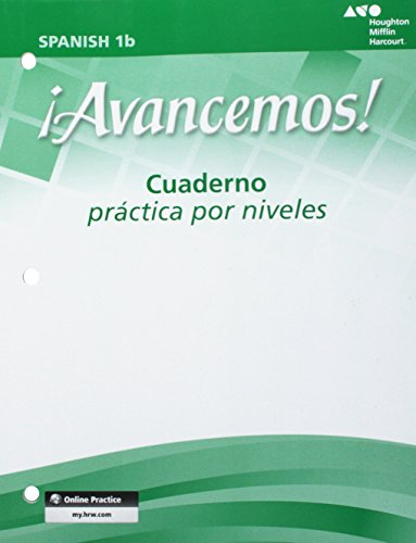 9780618765973: ¡Avancemos!: Cuaderno Practica por niveles Student Edition Level 1B (Spanish Edition)