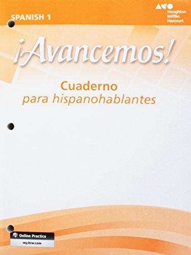 Avancemos!: Cuaderno para hispanohablantes (Student) Level 1: LITTEL, MCDOUGAL