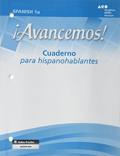 Avancemos!: Cuaderno para hispanohablantes (Student) Level 1A: MCDOUGAL LITTEL